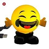 Neuheit Lächeln Emoticon Lampe 3D Version Emoji kleines Nachtlicht USB-Ladeanzeige Augenpflege Lächeln Schlafzimmer Lampe Home Decor