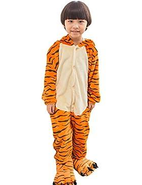 MissFox Kigurumi Pijamas Unisexo Niños Traje Disfraz Niños Animal Pyjamas Tigre