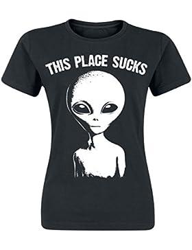 Goodie Two Sleeves This Place Sucks Camiseta Mujer Negro
