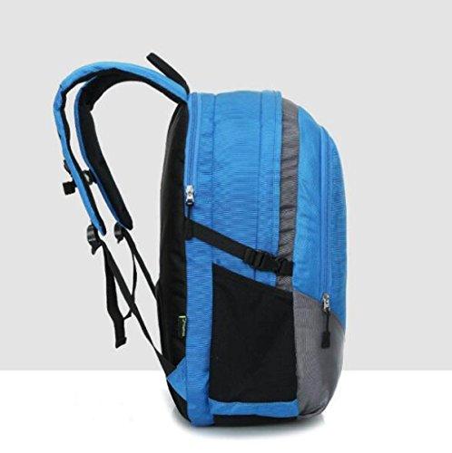 All'aperto Sport Borsa Viaggio Zaino Grande Capienza Impermeabile,Blue-OneSize Blue
