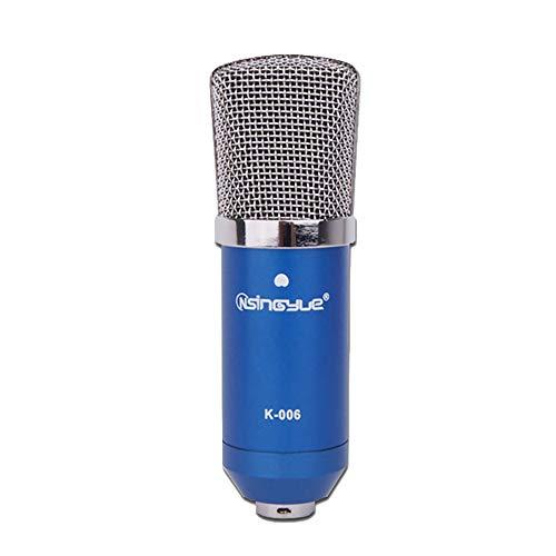 Rundfunk Aufzeichnung Kondensator Mikrofon einstellen Einschließlich Metall Shock Mount Anti-Wind-Schaumkappe in Kugelform Audio Kabel 3,5 mm Klinke zum Singen Übertragung Karaok Podcasting,Silver