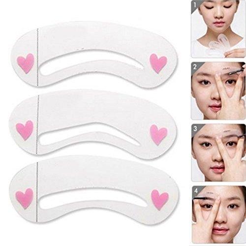 3 Pcs/1 Set durable sourcils Assistant Modèle de dessin carte Brow Make Up Pochoir