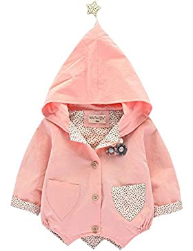 Bebone Baby Mädchen Jacke 0-3 Jahre alt Kinder Mantel mit Kapuze