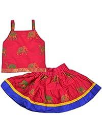 Decot Paradise Girls Rajasthani Print Cotton Lehenga Choli