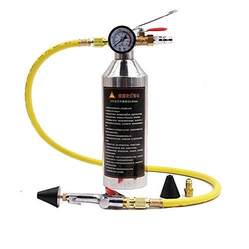 Descripción:    Nombre: botella de aire acondicionado para limpiar tuberías.    Recipiente reutilizable.    Fácil de usar: simplemente rellena el recipiente, presiona y descarga cada componente.    Es necesario reemplazar un compresor de aire acon...