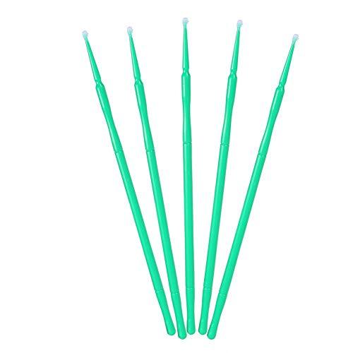 Scopri offerta per Micro applicatori monouso per extension delle ciglia o sollevamento ciglia - 100 Pezzi(GREEN)