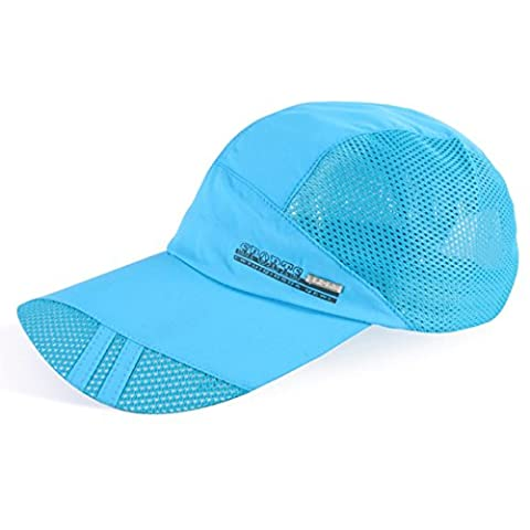 SLBGADIEME Quick Drying Breathable Running Outdoor Hat Cap Only 2 Ounces 10 Colors (Classic series,SkyBlue)