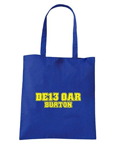 T-Shirtshock - Borsa Shopping WC1258 burton-postcode-tshirt design Blu Royal
