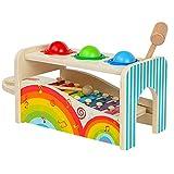 KESOTO Kinder Holzspielzeug Set mit Klopfbank Spielzeug und Xylophon Musikinstrument Spielzeug
