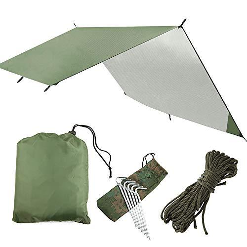 SZSMD Camping Zeltplane, Tarp für Hängematte, Wasserdicht, Leicht, Kompakt Zeltunterlage Picknickdecke Tarp Hammock Plane Tent Tarp Camping Outdoor Plane