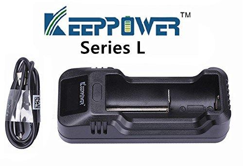 KeepPower L1 intelligentes LCD Ladegerät für Lithium Ionen Akkus