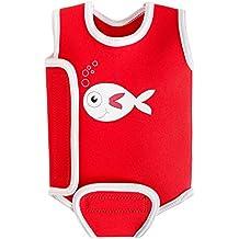 SwimBest - Costume da bagno intero da bebè, taglie disponibili 0-6, 6-12 e 12-24 mesi, Pesce rosso , 6-12 mesi (7-12kgs / 16-26 lbs)