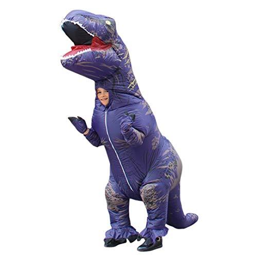 Sairis Schöne Aufblasbare Tier Dinosaurier Kostüme Lustige Halloween Kinder Cosplay - Lila Lustige Aufblasbare Kostüm