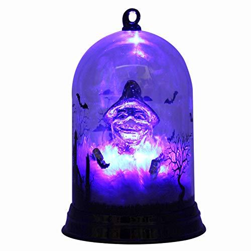 iBaste Nachtlampe Leucht Flaschelicht Deko für Halloween Party Licht mit Hexe Schloss ()