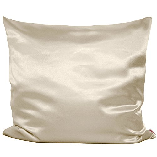 beties Glanz Satin Kissenbezug 80x80 cm anschmiegsam & edel 100% Polyester in 4 beliebten Größen Farbe (champagner) (Erotik Couch)