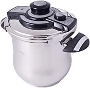 Procila Stainless Steel Pressure Cooker 9Ltr, Silver (Pr004) With Adjustable Pressure Out Valve And Easy To Op