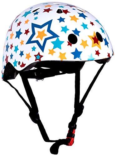 Kiddimoto Fahrrad Helm für Kinder / Fahrradhelm / Design Sport Helm für skates, roller, scooter, laufrad - Stars / Sterne - S (48-53cm)