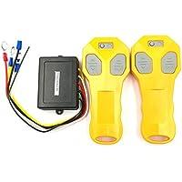 TOOGOO Dc12V Control Remoto de Cabrestante Inalambrico de Coche Universal con Doble Auricular Dos Transmisores Emparejados