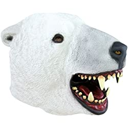 P 'tit payaso–12049–Disfraz de máscara adulto látex completo–oso polar, talla única