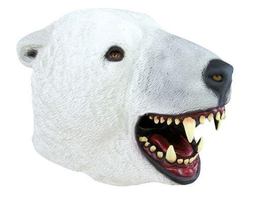 P 'tit Clown–12049–Kostüm–Maske Erwachsene Latex Integralhelm–Eisbär, -