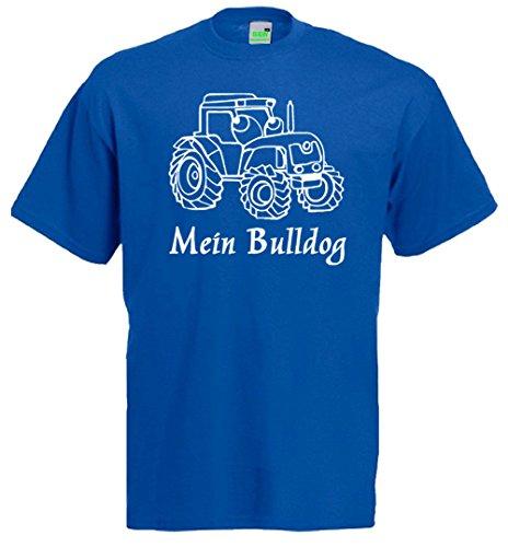 Mein Bulldog, Kinder T-Shirt, Traktor, Schlepper, Trecker Royalblau
