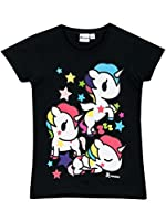 Maglietta del personaggio Tokidoki Unicorno per bambine. Con questa adorabile maglia dei Todikoki la tua bambina sembrerà magicamente meravigliosa come il suo Unicorno preferito. Ispirata al famoso brand giapponese, questa graziosa maglia a m...