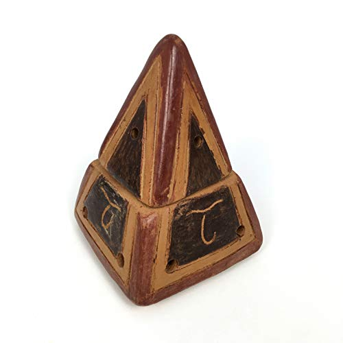 PALOSANTO Quemador de Incienso Piramidal Fabricado a Mano en Arcilla Natural - Ideales para Quemar Todo Tipo de Conos e Incienso en Grano, Polvo o Resina sobre carbón candente