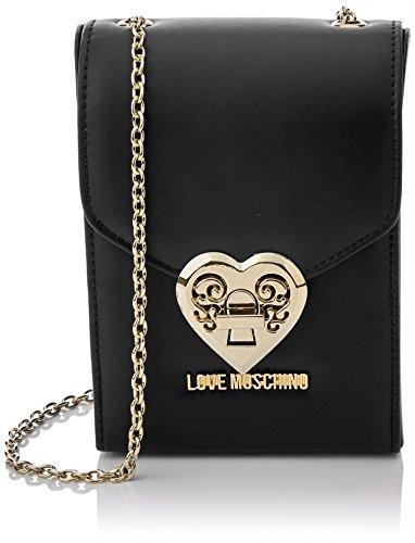 Love Moschino Borsa Nappa Pu Nero - Borse Baguette Donna f738f29a69c