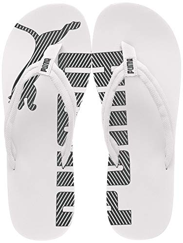 PUMA Unisex-Erwachsene Epic Flip V2 Dusch- & Badeschuhe, Weiß (white-black), 46 EU