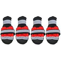 JullyeleESgant Zapatos para Mascotas de Invierno Botas Reflectantes Impermeables Botas antirresbaladizas de Lluvia Botas de Nieve Calzado Calcetines Gruesos cálidos Botines para Gatos