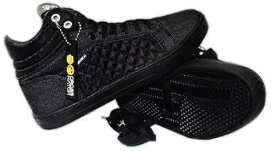Kids Crosshatch Hi Top Lace Up Canvas Trainers UK Size 3-6 Boys School Shoes
