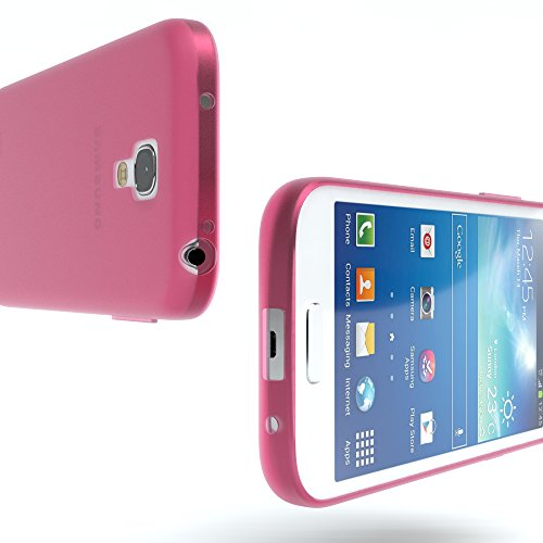 Samsung Galaxy S4 Mini Hülle - EAZY CASE Ultra Slim Cover TPU Handyhülle Matt - dünne Schutzhülle aus Silikon in Grün Matt Pink