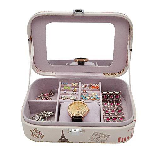 Binwwe Mini-Reise-Schmuckkästchen, Schmuckaufbewahrungsbox, Kleine Reise Schmuckkästchen Klein Schmuckbox Reisen Schmuckbox