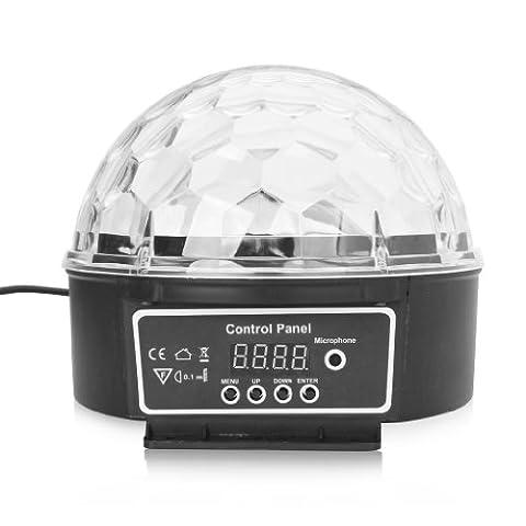Excelvan 6 Leds Mini Projecteur Lumière de scène Éclairage à Disco DJ Spotlight pour Soirée Bar Club Ampoule d'Atmosphère