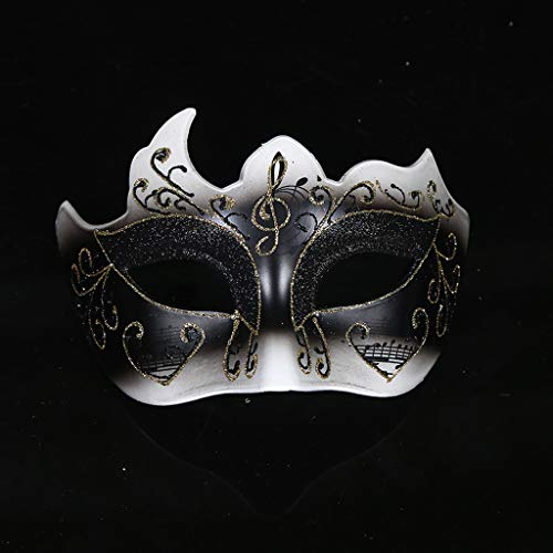 Xl Maske- Halloween Maske Maskerade Lady Party Maske Half Face Prinzessin Venedig Song und Dance Party (Farbe : SCHWARZ)