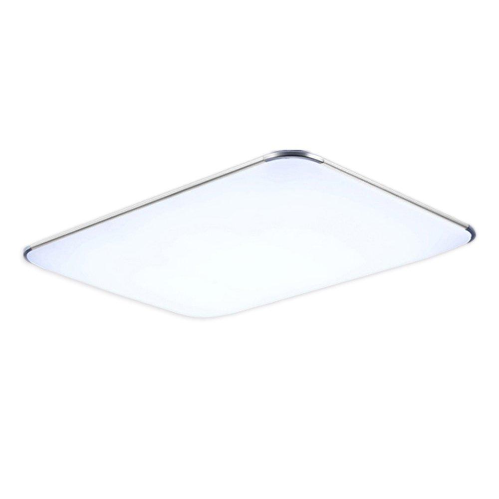 48W LED Deckenleuchte Warmweiß Modern Deckenlampe Ultraslim Schlafzimmer  Küche Flur Wohnzimmer Lampe Wandleuchte Energie Sparen Licht Silber (48W ...