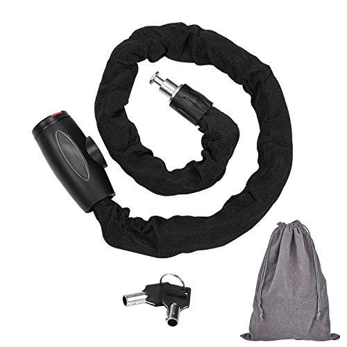 Fobozone catena antifurto moto heavy duty catena in acciaio al manganese e catena bicicletta antifurto(dimensioni: 95cm lunghezza x 9.5 mm dia/peso: 1.35 kg)