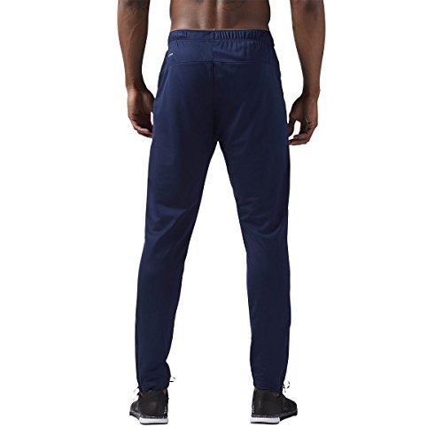 Reebok -  Pantaloni sportivi  - Uomo blu