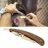 Navaja de Afeitar profesional para barbero, Máquina de afeitar de barba de acero inoxidable, Herramienta de depilación para cortar el cabello