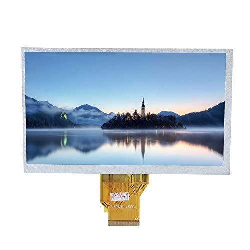 ASHATA 7oll LCD Screen Monitor, Resistiver HD LCD Bildschirm Monitor Display,800 * 480 Resolution Screen LCD Bildschirm mit Hintergrundbeleuchtung für Raspbian/Ubuntu/Kodi/Win10 IOT - Bildschirm Mit Hintergrundbeleuchtung