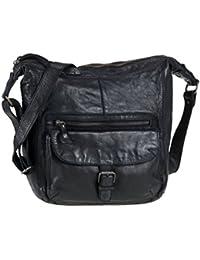 6f4cebd3d56577 Bear Design Damen Tasche Ledertasche Umhängetasche Schultertasche schwarz