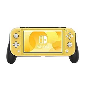TEEPAO Grip Schutzhülle für Nintendo Switch Lite 2019, mit Handgriffen, stoßdämpfend und Kratzfest, Schwarz