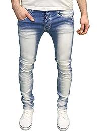 Seven Series Branded Mens Designer Panelled Detail Stretch Skinny Fit Jeans