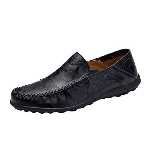 Hibote Classic Scarpe da Uomo Mocassini Slip On Pelle Penny Loafers Casual Eleganti Scarpe da Guida EU 38-47