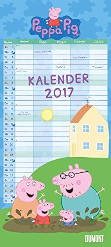Peppa Pig 2017: Familienplaner 5 Spalten