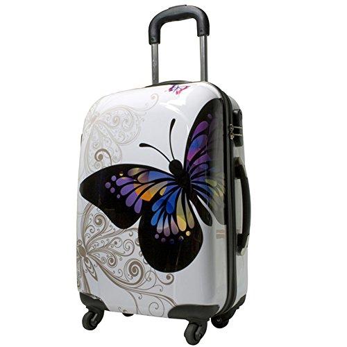 Koffer 68 Liter Reisekoffer Hartschalenkoffer Trolley Designer Butterfly (68 Liter)