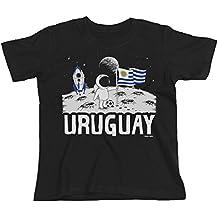 Buzz Shirts Kids Uruguay Camiseta Moon Flag Copa Mundial 2018 Fútbol Chicos Chicas Childrens