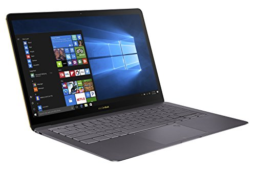 ASUS ZenBook 3 Deluxe UX490 (90NB0EI3-M04080) 35,6 cm (14 Zoll, Full-HD) Ultrabook (Intel Core i5-7200U, 8GB RAM, 256GB SSD, Intel HD Graphics, Windows 10 Pure) Quartz Grau