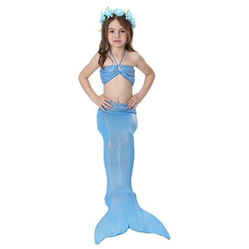 Preisvergleich Produktbild Das Beste Mädchen Meerjungfrau Bikini Kostüm Schwimmanzug Badeanzüge Tankini Bademode Badeanzüge Meerjungfrauenschwanz Schwimmen