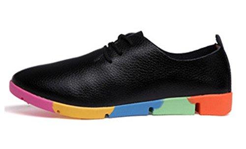 Mme printemps et lautomne Mme chaussures dascenseur chaussures de sport chaussures de sport chaussures blanches Black